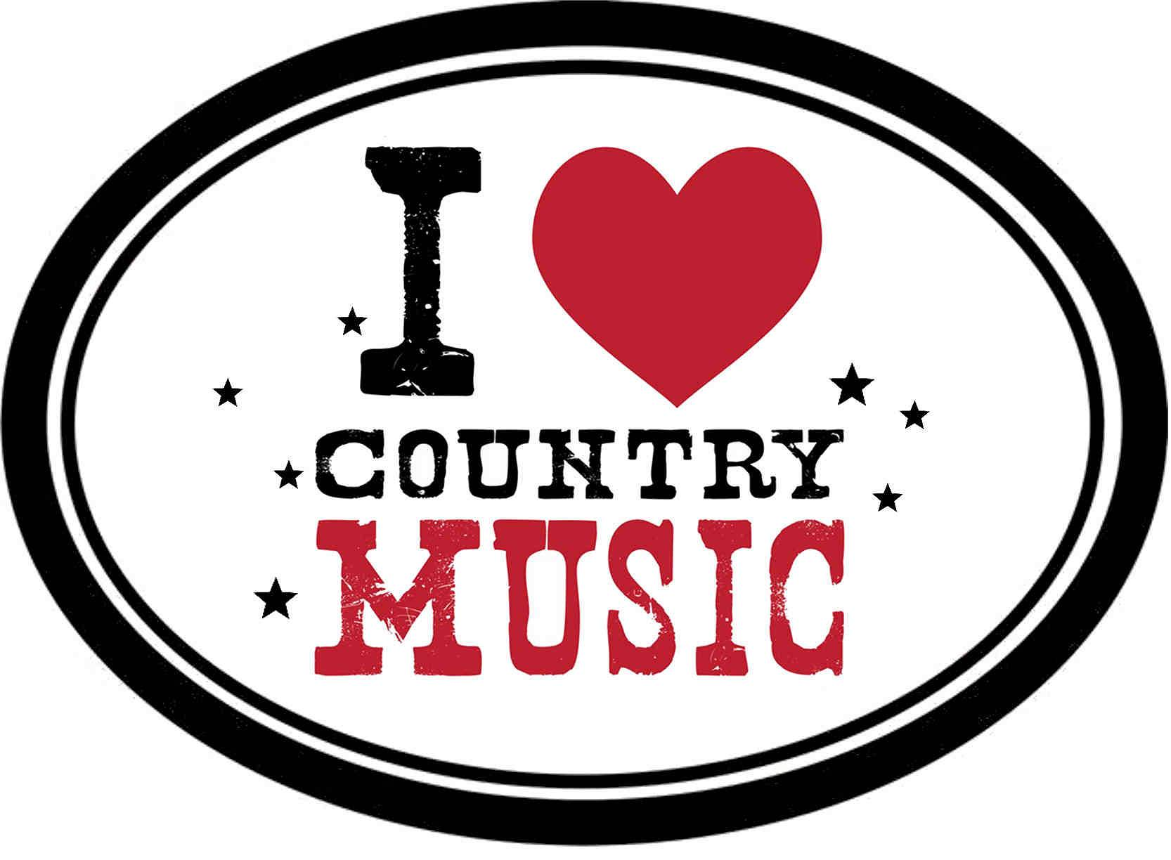 naklejka I LIKE COUNTRY MUSIC